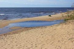 Spiaggia sul lago Peipsi Fotografia Stock Libera da Diritti