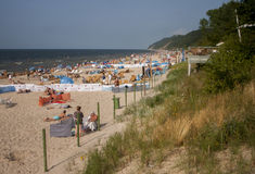 Spiaggia sul Mar Baltico Fotografia Stock