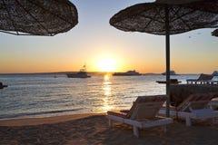 Spiaggia sul Mar Rosso Immagine Stock