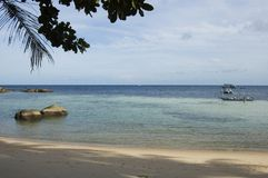 Spiaggia sull'isola del Tao del KOH, Tailandia Fotografie Stock