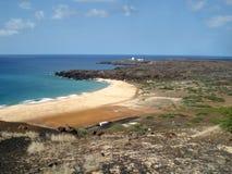 Spiaggia sull'isola di ascensione fotografia stock