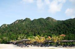 Spiaggia sull'isola di Langkawi Fotografia Stock