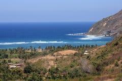 Spiaggia sull'isola di Lombok. Immagini Stock
