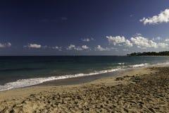 Spiaggia sull'oceano nei Caraibi Fotografia Stock Libera da Diritti