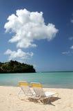 Spiaggia sulla baia Fotografia Stock