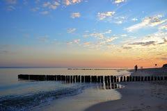 Spiaggia sulla costa baltica Immagine Stock Libera da Diritti