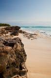 Spiaggia sulla grande isola del Turco, caraibica Immagini Stock Libere da Diritti