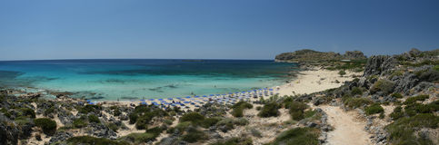 Spiaggia sulla laguna Immagini Stock