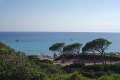 Spiaggia sulla Sardegna immagine stock libera da diritti