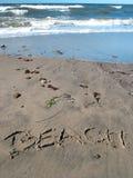 Spiaggia sulla spiaggia con l'oceano immagine stock libera da diritti