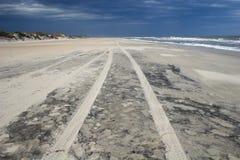 Spiaggia sulle banche esterne Fotografie Stock Libere da Diritti