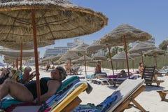 Spiaggia in Susa Fotografie Stock
