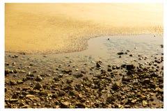 Spiaggia Tai Chi naturale immagini stock