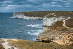Spiaggia, Tarhankut, Dzhangul La Crimea, Russia Immagine Stock