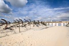 Spiaggia Tavira Algarve Portogallo di Barril Immagini Stock