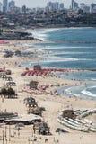 Spiaggia a Tel Aviv Fotografia Stock
