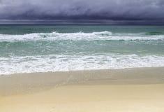 Spiaggia tempestosa Immagine Stock Libera da Diritti