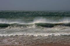 Spiaggia tempestosa Immagini Stock Libere da Diritti