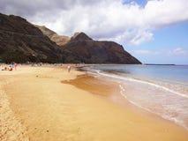 Spiaggia in Tenerife Fotografia Stock Libera da Diritti