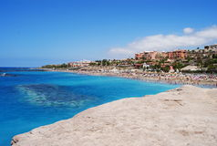 Spiaggia in Tenerife Fotografie Stock Libere da Diritti