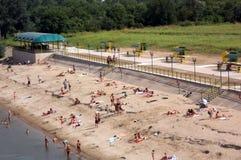Spiaggia Tiraspol del fiume Fotografie Stock Libere da Diritti