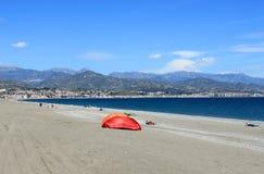 Spiaggia Torre Del Mar Immagine Stock Libera da Diritti