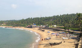 Spiaggia a Trivandrum nel Kerala Fotografia Stock