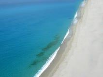Spiaggia Tropea Calabria Italia del mare di linea di galleggiamento Fotografie Stock Libere da Diritti