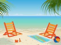 Spiaggia tropicale illustrazione di stock