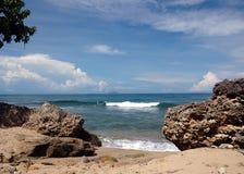 Spiaggia tropicale Immagini Stock Libere da Diritti