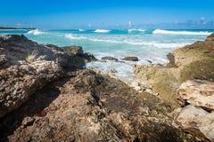 Spiaggia tropicale Fotografie Stock Libere da Diritti