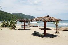 Spiaggia tropicale in Cayo Levantado, Repubblica dominicana Immagini Stock Libere da Diritti