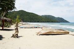 Spiaggia tropicale in Cayo Levantado, Repubblica dominicana Immagine Stock Libera da Diritti