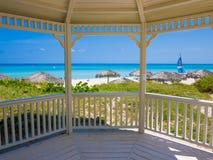 Spiaggia tropicale in Cuba Immagine Stock