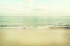 Spiaggia tropicale d'annata di estate Immagine Stock Libera da Diritti
