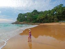 Spiaggia tropicale da sopra Immagine Stock Libera da Diritti