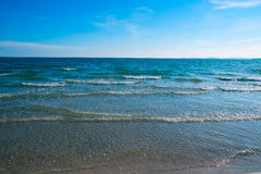 Spiaggia tropicale della sabbia Fotografia Stock