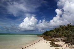 Spiaggia tropicale di Bahama Fotografia Stock Libera da Diritti