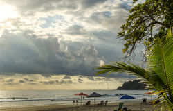 Spiaggia tropicale di Manuel Antonio - Costa Rica Fotografia Stock Libera da Diritti