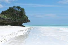 Spiaggia tropicale di zanzibar Fotografia Stock