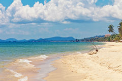 Spiaggia tropicale esotica fotografia stock libera da diritti