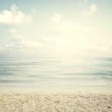 Spiaggia tropicale in estate Fotografia Stock