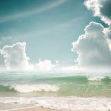 Spiaggia tropicale in estate Fotografie Stock