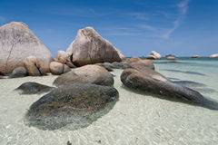 Spiaggia tropicale in Indonesia, Bintan Immagine Stock