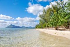 Spiaggia tropicale in Isola Maurizio Fotografia Stock Libera da Diritti