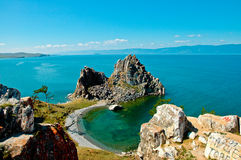 Spiaggia tropicale isolata Immagini Stock