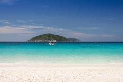 Spiaggia tropicale, isole di Similan, mare delle Andamane, Tailandia Immagine Stock Libera da Diritti