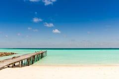 Spiaggia tropicale Maldies Fotografie Stock