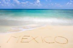 Spiaggia tropicale messicana Fotografie Stock
