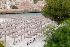 Spiaggia tropicale nella festa del turista di estate Immagini Stock